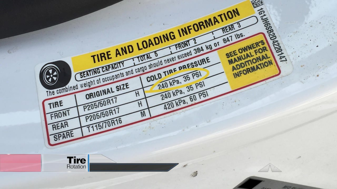 Tire Rotation - Tire Inflation