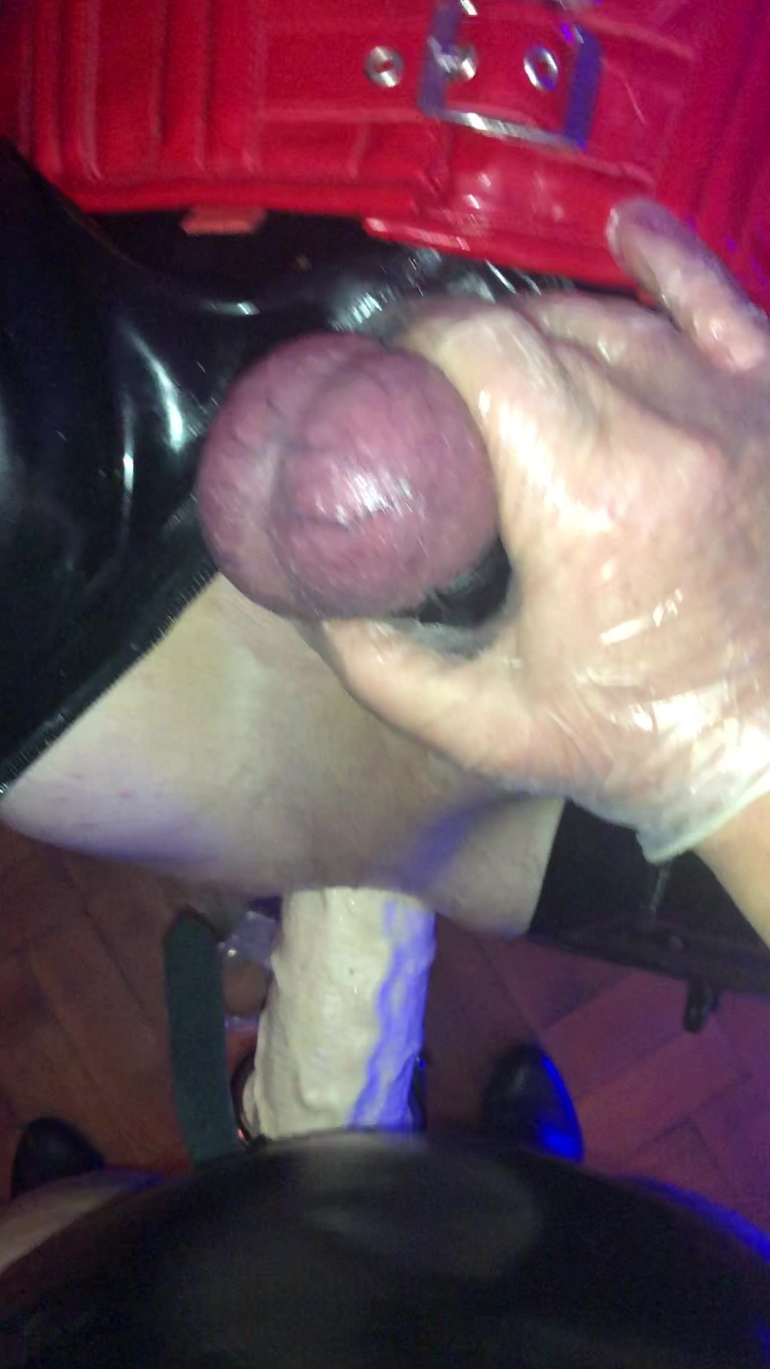 Huge strapon - watch the rubber Slut take the lot 13.5 inches