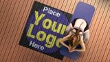 Show Your Yoga Studio logo / Gym in a Live Video Commercial
