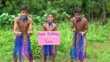 Sing Happy Birthday As Jungle Boy In The Jungle  . birthday gift , dance funny video