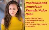Record professional american female voice over