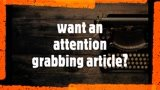 Write an engaging article/blog