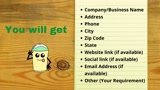 Do yellow pages scraping to get 1000 business leads