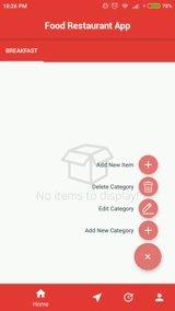 Develop food ordering app