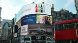 Advertise your message to this video of piccadilly circus