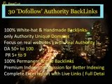 Provide 30 'Dofollow'  Authority BackLinks with Anchor Text
