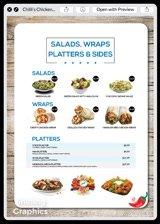 A custom appealing restaurant menu design & price list