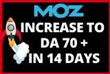Increase domain authority to 70+ in 14 days
