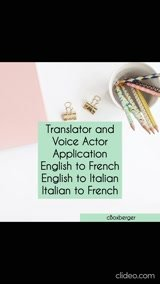 Translate from English to French your 500 word document