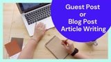 Write a guest post or blog post article from 400 to 700 words on