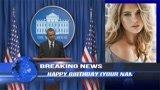 Make barak obama wish happy birthday video custom